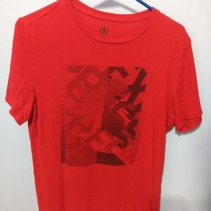 Express Mens Small Red Graphic T-Shirt